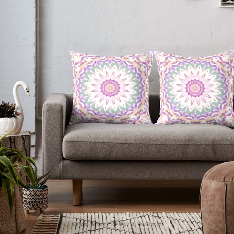 Calypso Mandala Throw Pillows