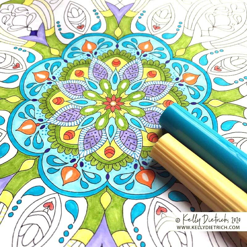 Spring Renewal Mandala: April's Free Printable Coloring Page — Kelly  Dietrich Mandala Art