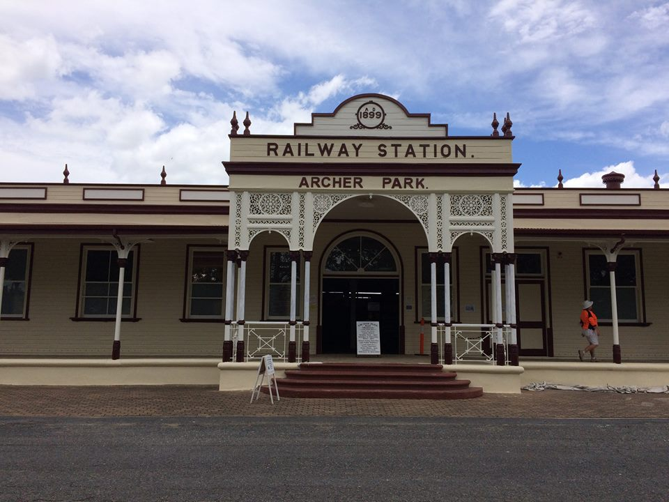 A fresh paint job for the front of the station - via the  Archer Park Rail Museum's Facebook page