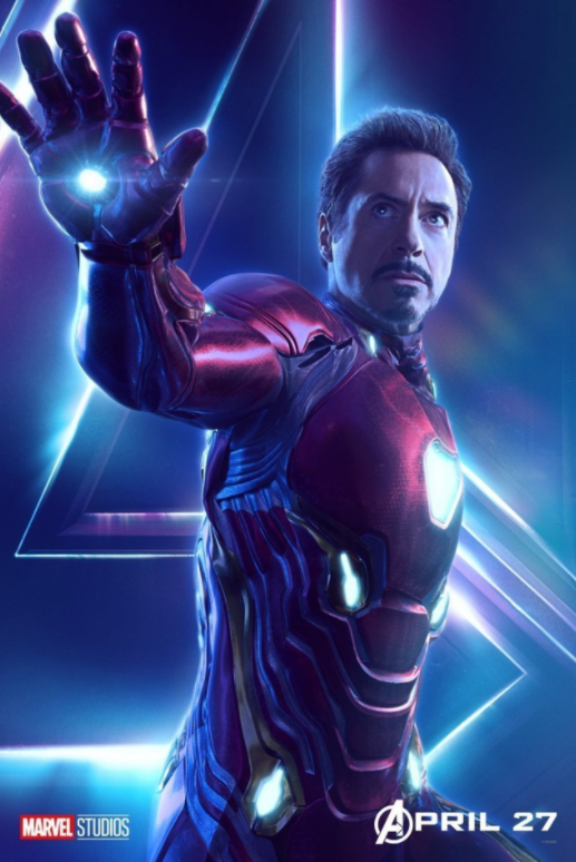 Iron Man - Played by Robert Downey Jnr