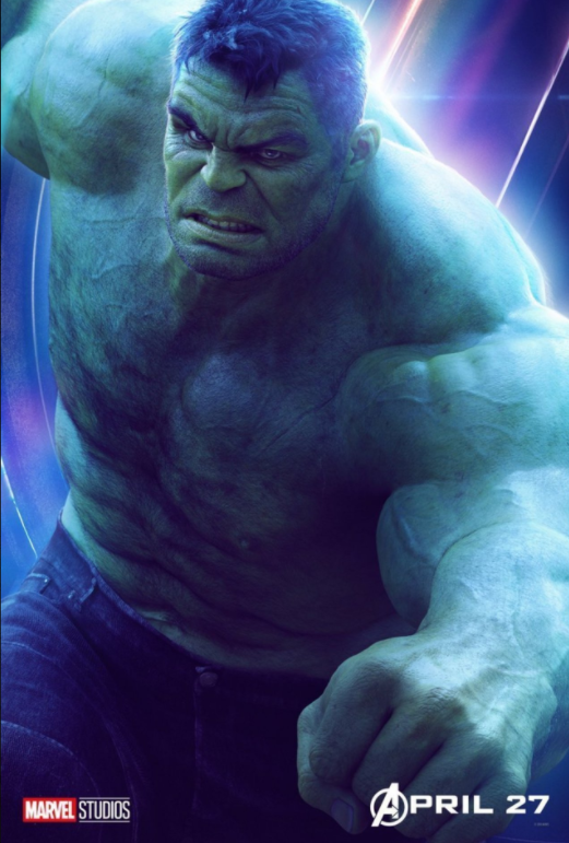 The Hulk - Played by Mark Ruffalo (Originally played by Edward Norton)