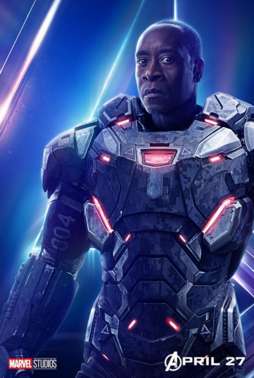 War Machine - Played by Don Cheadle (Originally played by Terrence Howard)