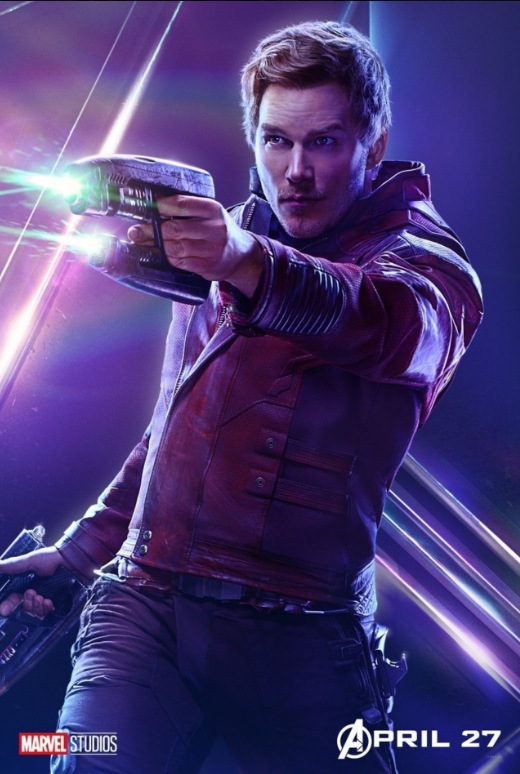 Star-Lord - Played by Chris Pratt
