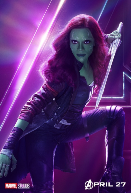 Gamora - Played by Zoe Saldana