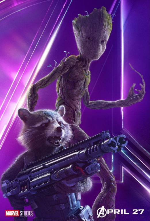 Rocket & Groot - Voiced by Bradley Cooper and Vin Diesel