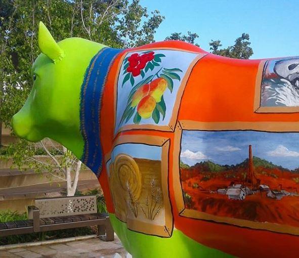 The InspirexArt art bull, pre-vandalism.
