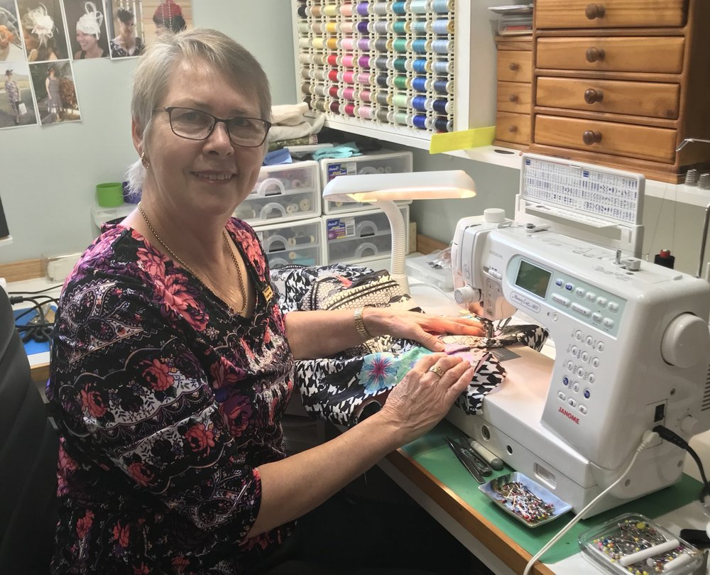 Gladstone seamstress Daphne Pohle