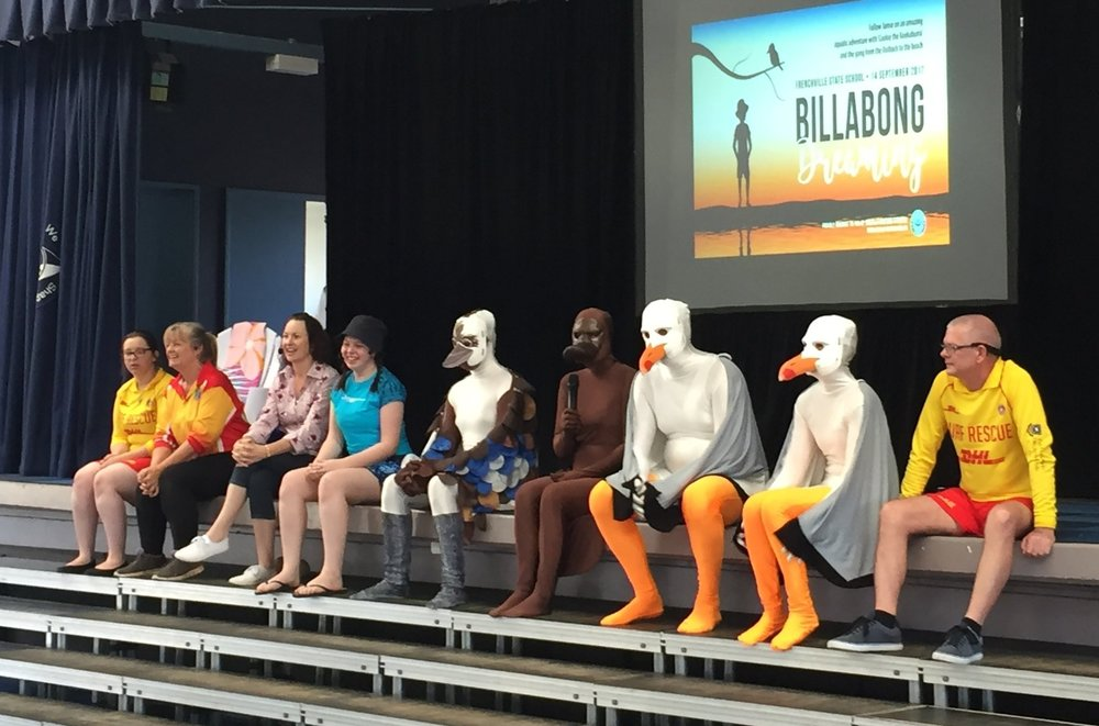 The 2017 cast of  Billabong Dreaming .