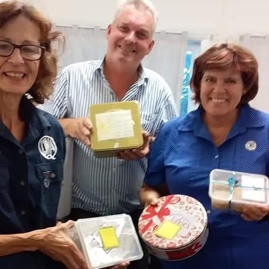 Sarah and Judith from the Cloncurry QCWA and Member for Gregory Lachlan Millar.  This was the third stop for the donations on the way to Winton.  With only five QCWA members in Cloncurry, Blazeaid have been helping distribute the goods.