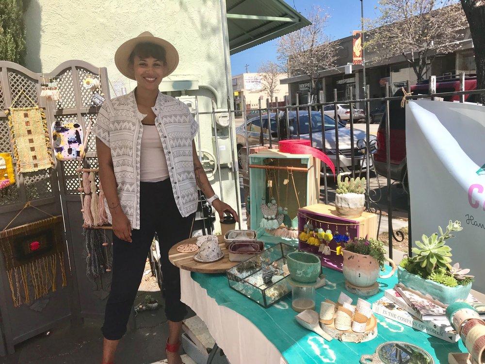 (Me at April's Laurel Makers Market in Oakland, CA)