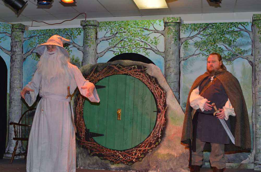 Gandalf and Thorin at Bag End.