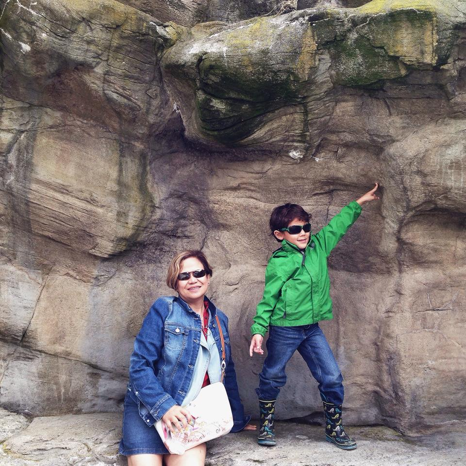 Deacon with my mom at a trip to the Oregon Coast  Image -  Stacy Fajardo