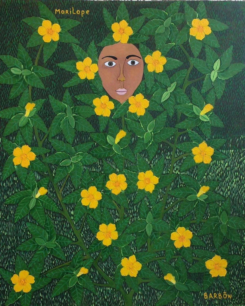 Julio Barbon-Marilope-2016-Acrylic on Canvas-22 x 18 inches.jpg