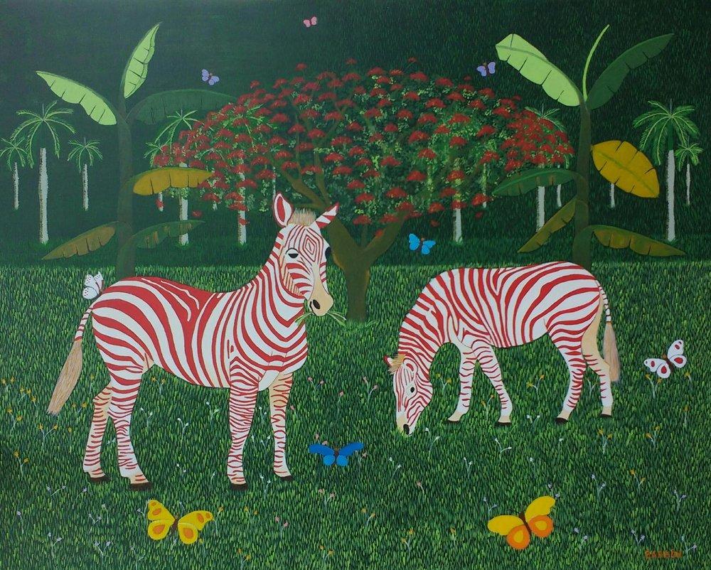Julio Barbon-Matrimonio Feliz-2016-Acrylic on Canvas-32 x 39 inches.JPG