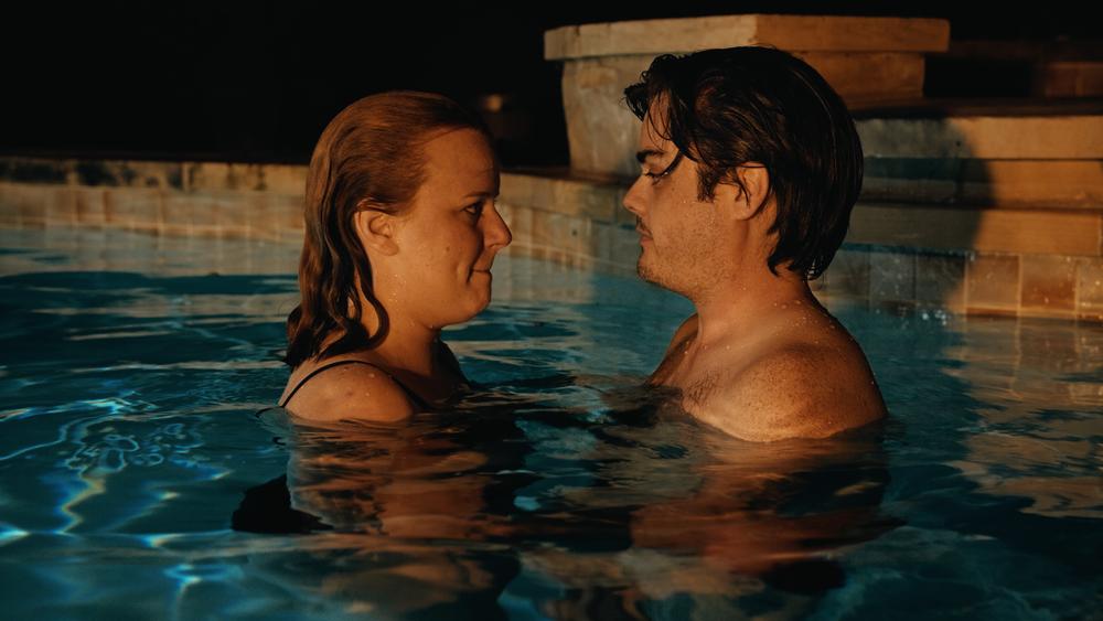 Opal & Wyatt in the pool