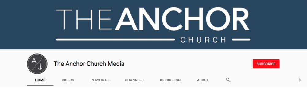 The ANCHOR Church Media YouTube Channel - WORSHIP Playlist