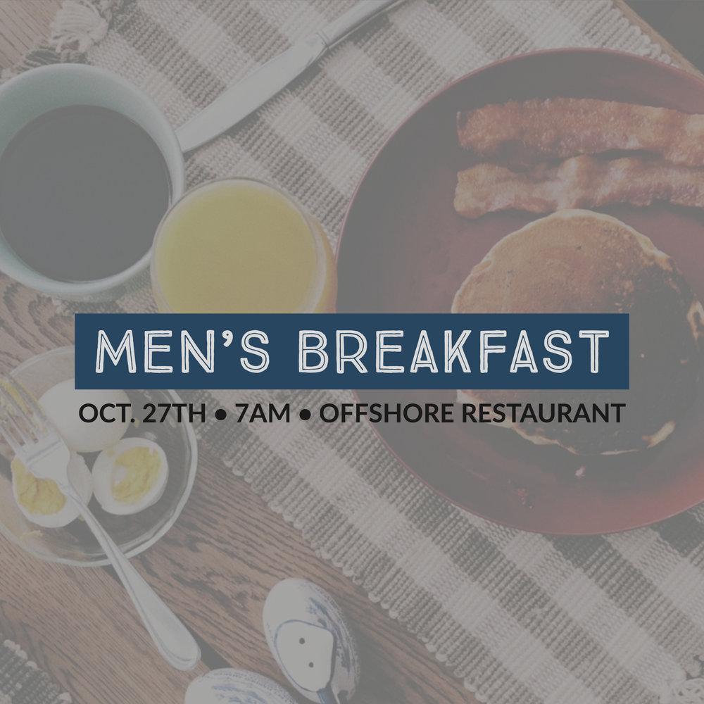 OCT 27 Men's Breakfast at The Offshore Restaurant
