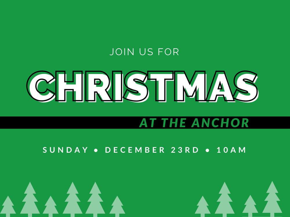 Christmas at The Anchor Church