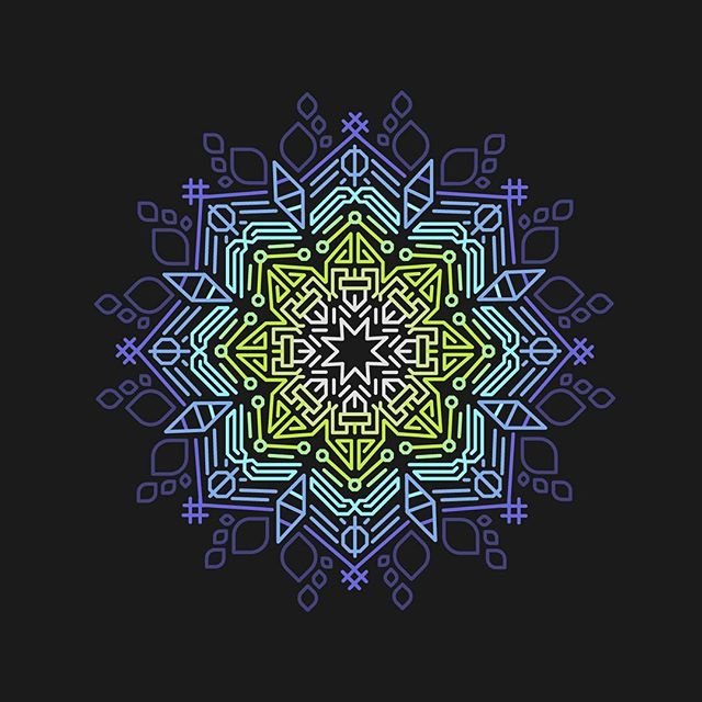 Mandala of the week #mandala #vector #design #cloudfarmers lothingbrand #clothingline #team #womansclothing #womensfashion #marketing #photooftheday #portlandart #pnwart #illustration #drawing #design #apparel #fashion #art #artwork #merchdesign #logo