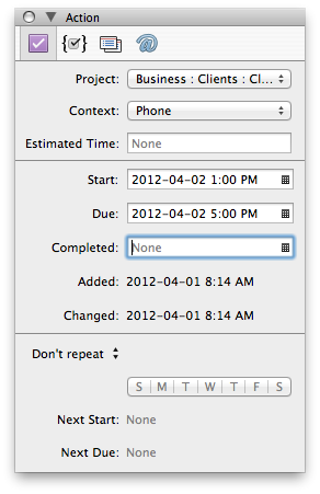 Tim Stringer - OmniFocus Start Due Times - Mac