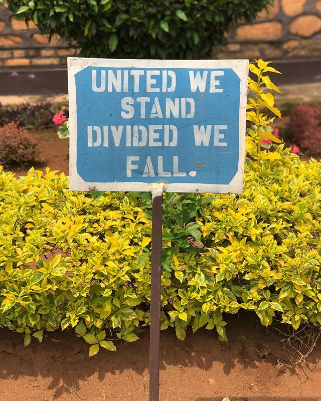 Saturday wisdom from the schoolyard of our partner school TTC Zaza in #Rwanda.  Rwanda #Rwandan #Rwandalicious #Africa #African #Travelafrica #Empowergirls #Timesup