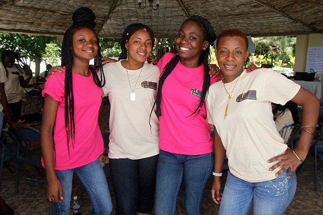 """""""Each time a woman stands up for herself, without knowing it possibly, without claiming it, she stands up for all women."""" Maya Angelou.  Some of the girls from the #womenandgirlsinitiative program in Haiti at last years Leadership camp.  Photo by: @nadiatodres  ________________ #InternationalWomensDay #InternationalWomensDay2019  #WomensDay #IWD2019 #BalanceforBetter #SheInspiresMe #Sheroes #WomenAndGirlsRock #BlackGirlsRock #EmpowerWomen #Haiti #PartnersInHealth"""