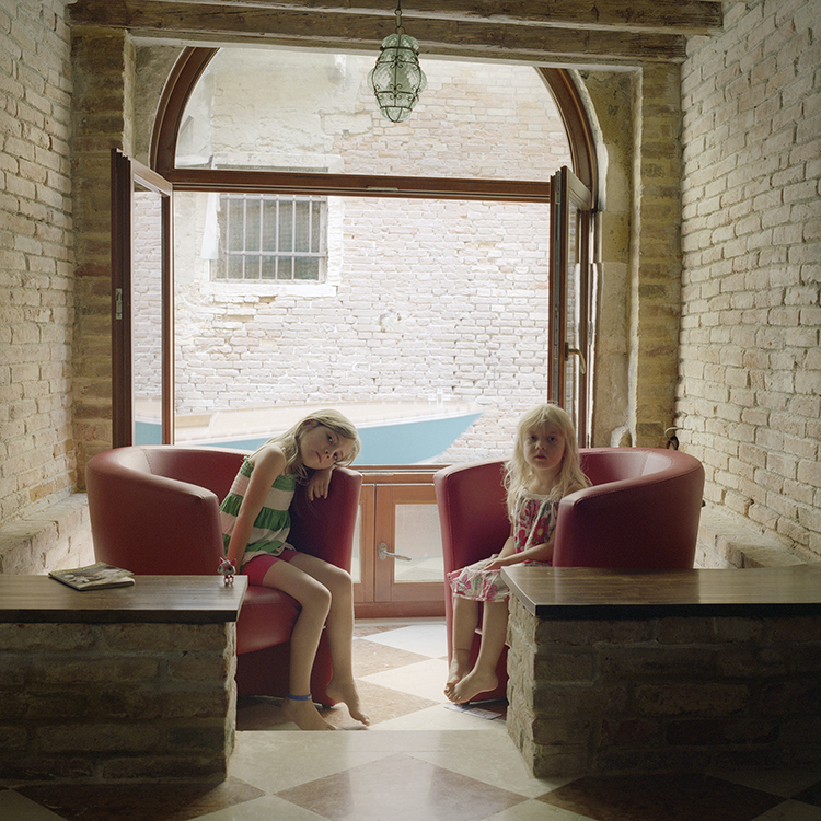 Winona and Delila Wardwell, Venice, Italy