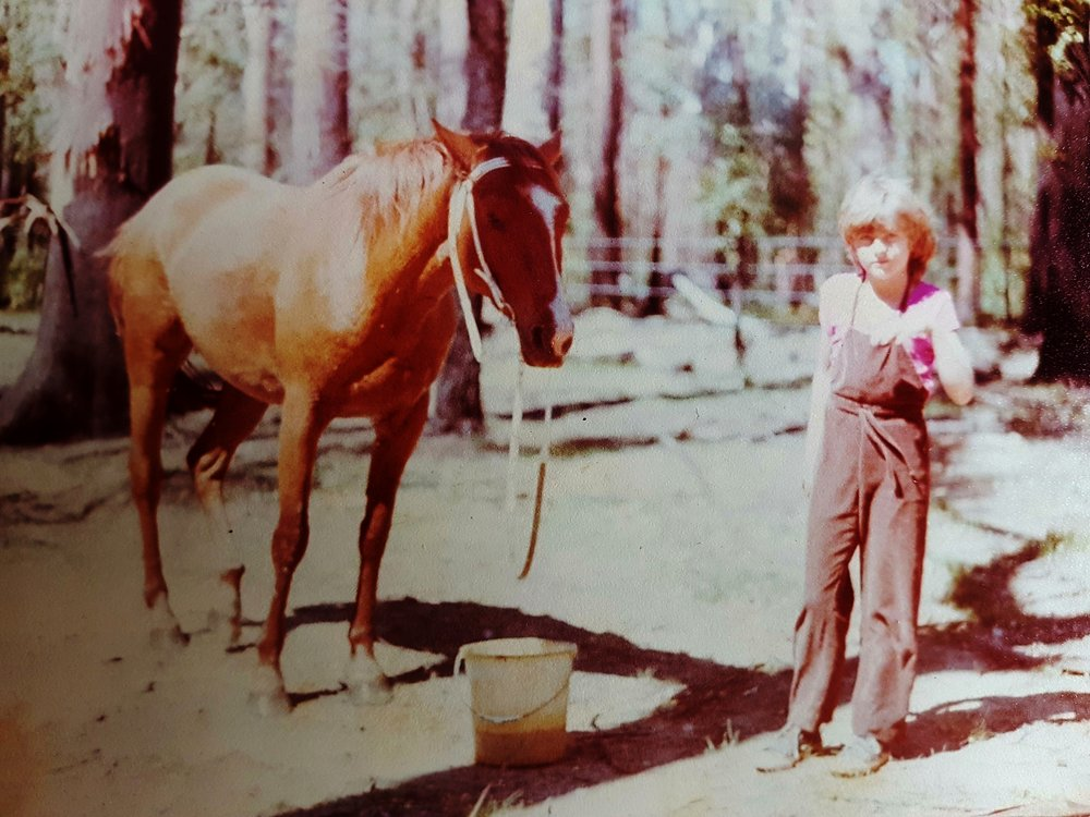 My horse Peppy and me at My Royal in the late 1970s