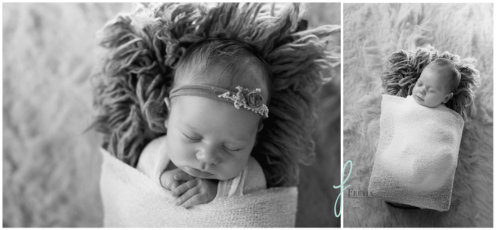 Black and White newborn pictures from Ava's Newborn Session