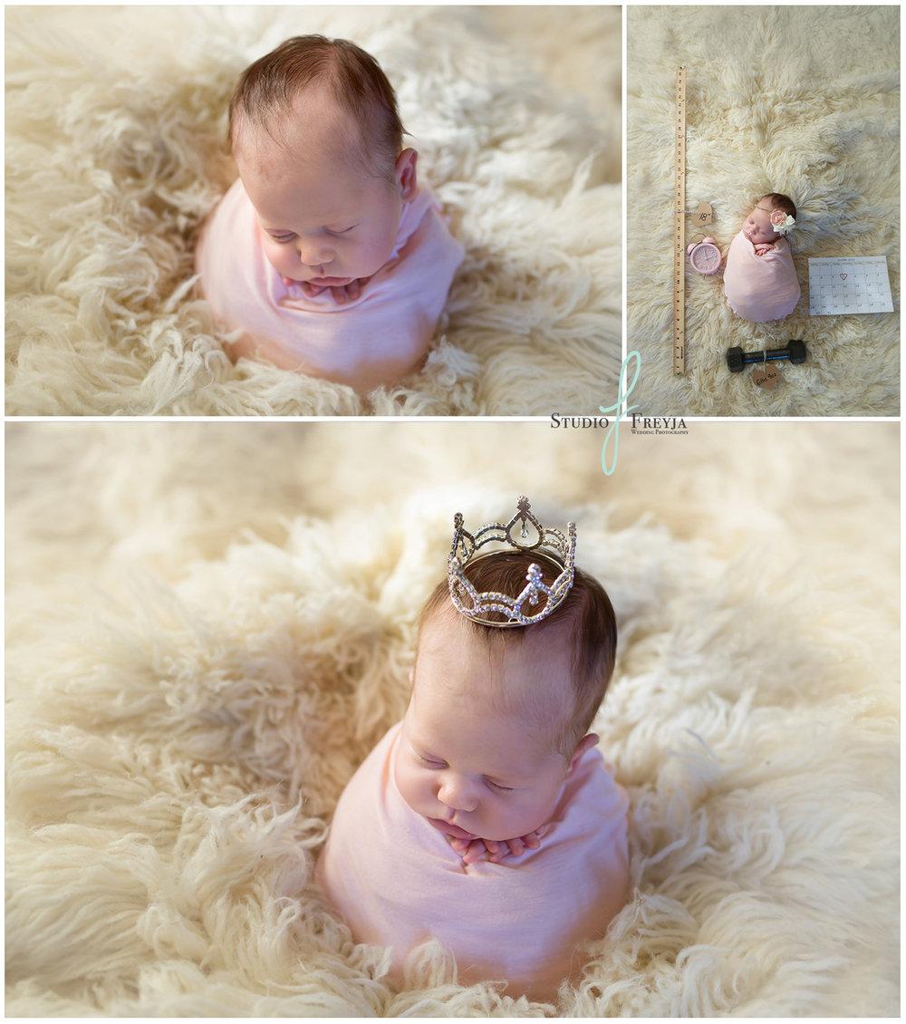 Princess Ava's Newborn Session in San Diego CA
