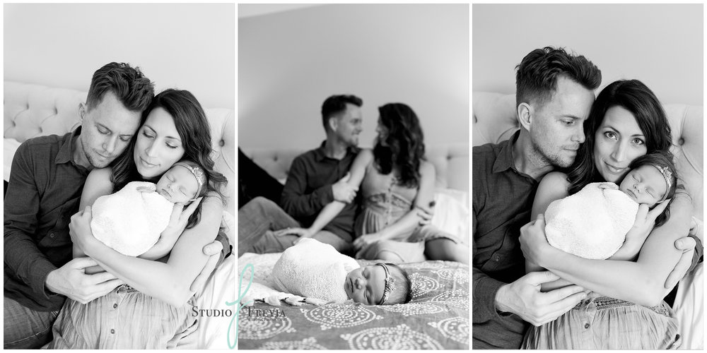 Parents Image Collage by San Diego Newborn Photographer