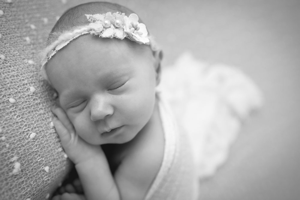 Black and White infant pictures Captured Newborn Photographer in San Diego