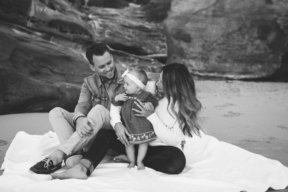 Milestone Pictures in La Jolla by San Diego Newborn Photographer