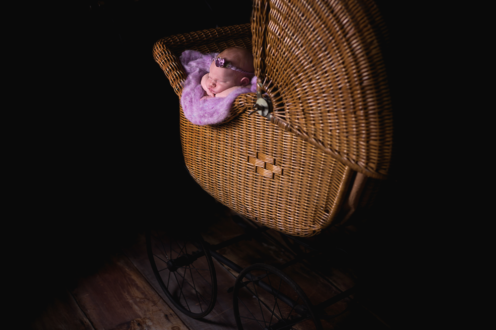 100 year old buggy used during newborn pictures in San Diego CA by local Newborn Photographer Studio Freyja Newborns