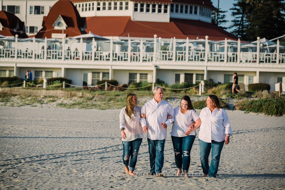 Hotel Del Coronado Beach Family Pictures