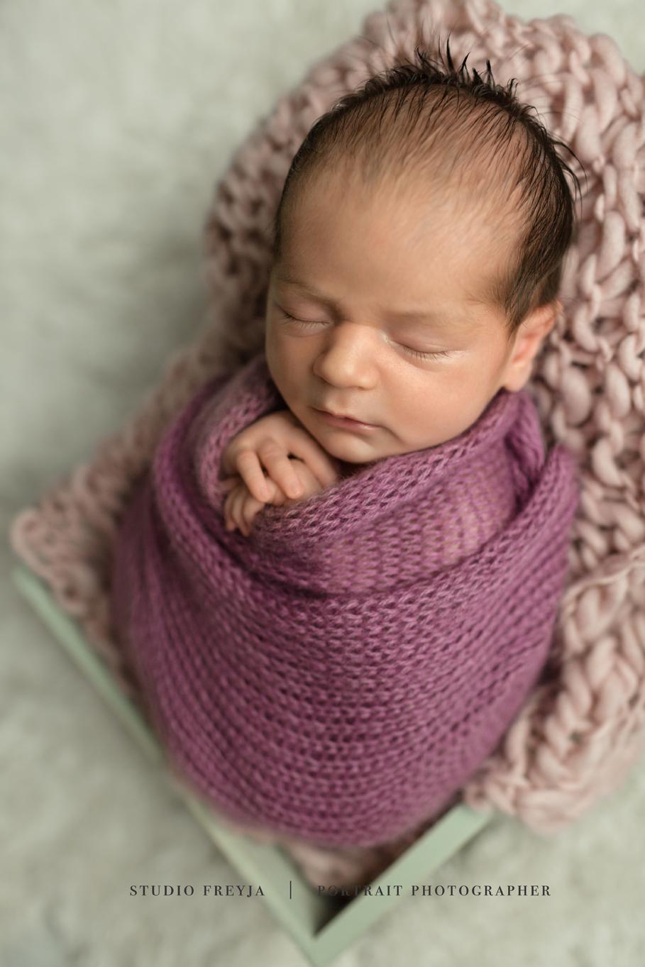 Wrapped Newborn Girl San Diego Newborn Photographer