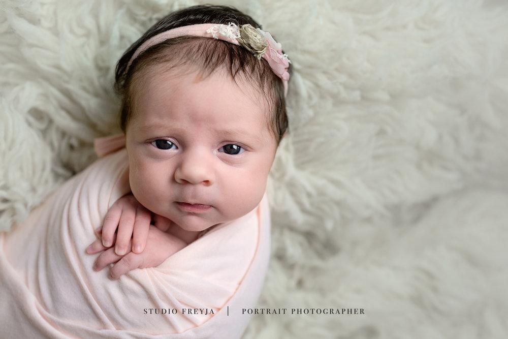 Awake Baby San Diego Newborn Photographer