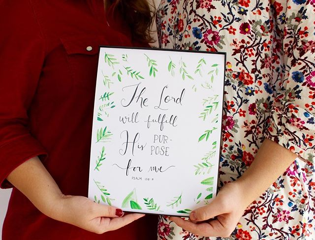 """The Lord will fulfill his purpose for me."" Such a good reminder for Wednesday morning! . . . . . . #smallbusiness #shoplocal #septpaperco"