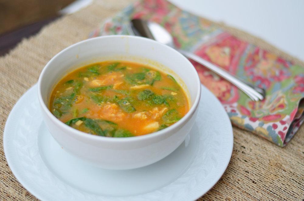 Thai Chicken Soup / CarolynWilliamsRD.com
