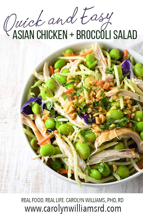 Asian Chicken Broccoli Salad Pin