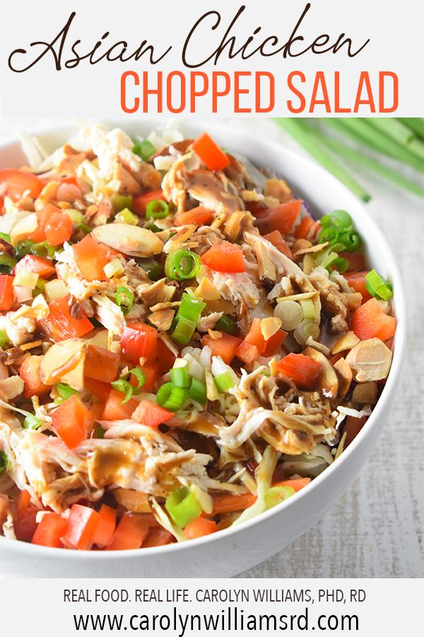 Asian Chicken Chopped Salad Pin