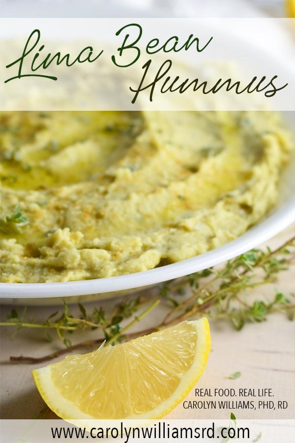 Lima bean Hummus Carolyn Williams PhD RD