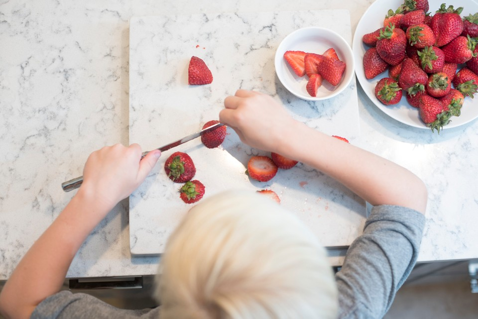 Chopping Strawberries - Fiber Supplements vs Diet