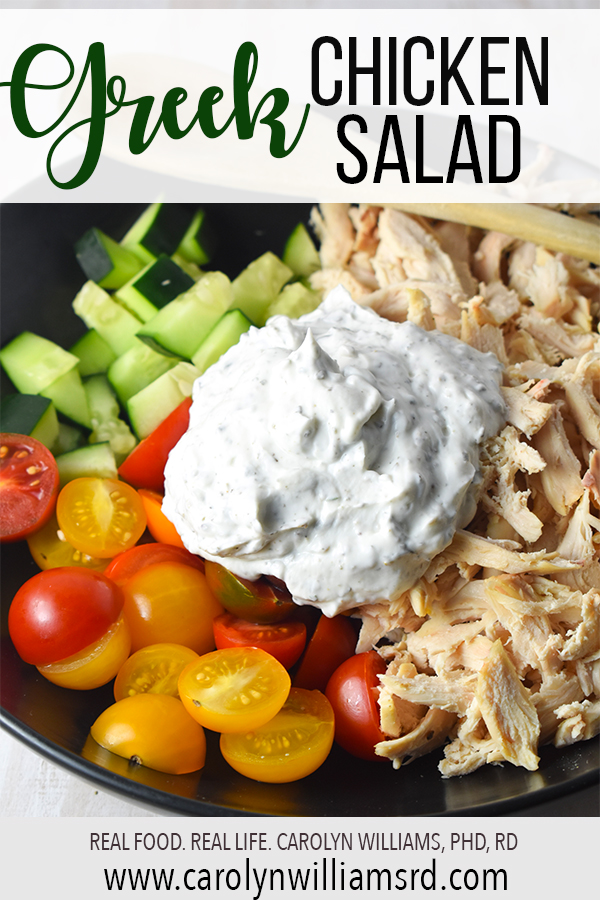 Greek Chicken Salad // Carolyn Williams, PhD, RD