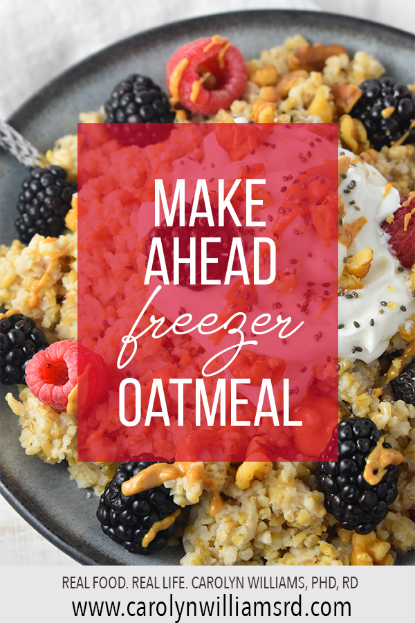 Make Ahead Freezer Oatmeal
