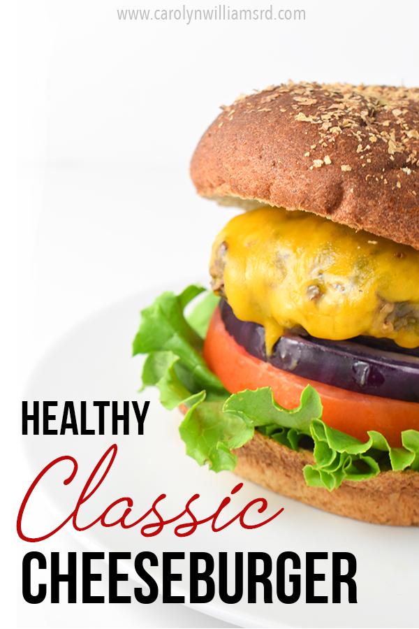 Healthy Classic Cheeseburger Pin