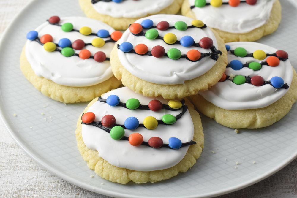 Christmas Lights Sugar Cookies