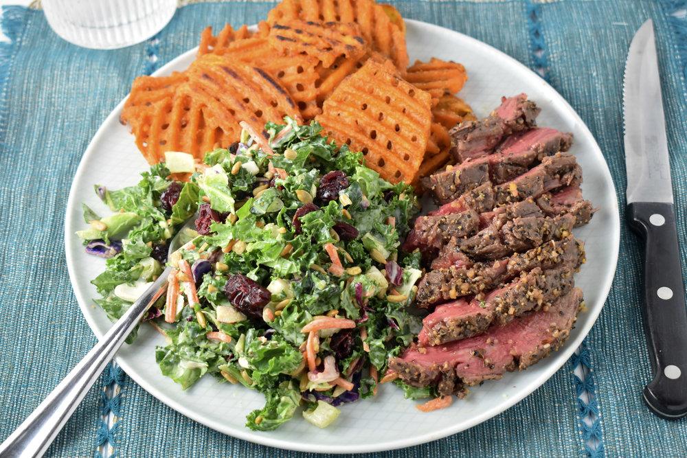 Oven Flank Steak Dinner // CarolynWilliamsRD.com