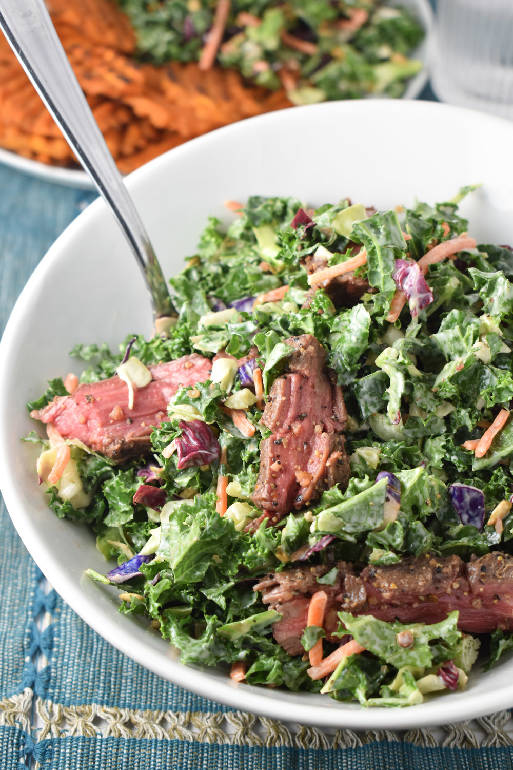 Oven Flank Steak Salad // CarolynWilliamsRD.com