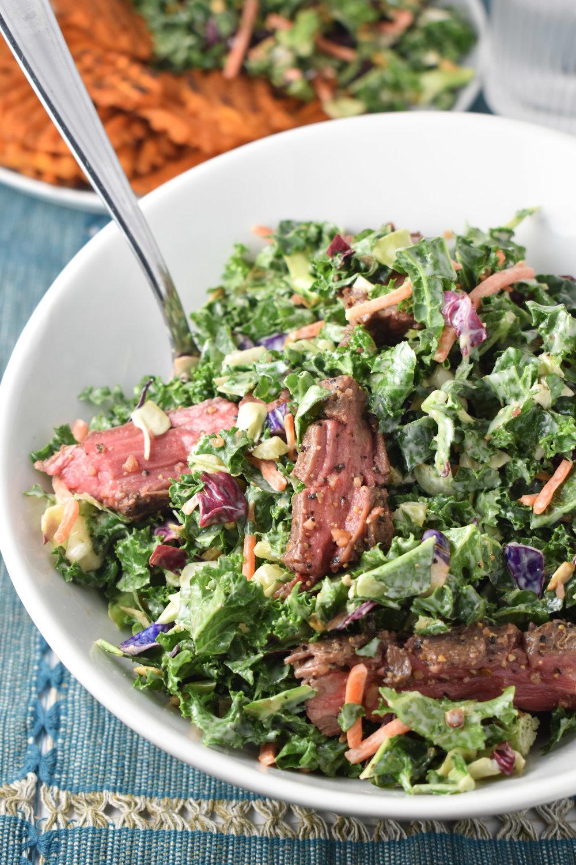 Oven Flank Steak Salad // CarolynWilliamsRD.com